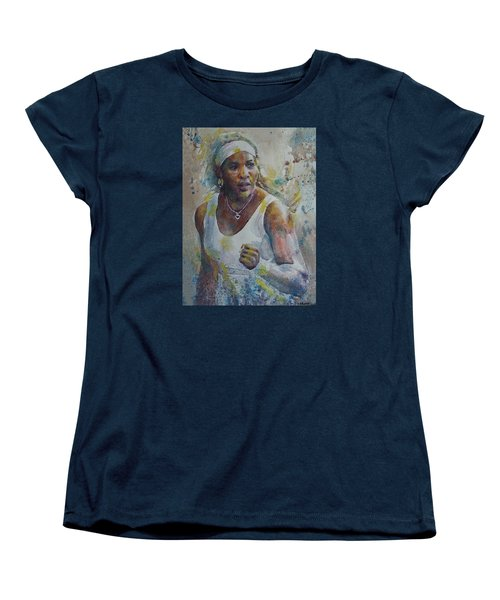 Serena Williams - Portrait 5 Women's T-Shirt (Standard Cut) by Baresh Kebar - Kibar