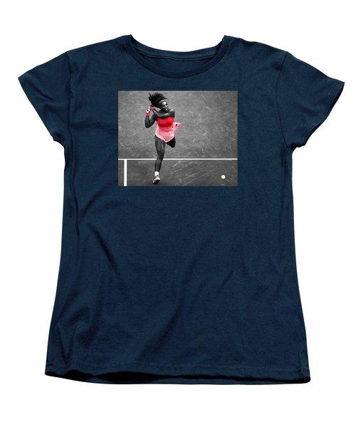 Serena Williams Strong Return Women's T-Shirt (Standard Cut) by Brian Reaves