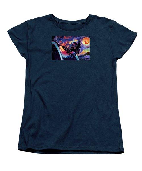 Serene Starry Night Women's T-Shirt (Standard Cut)