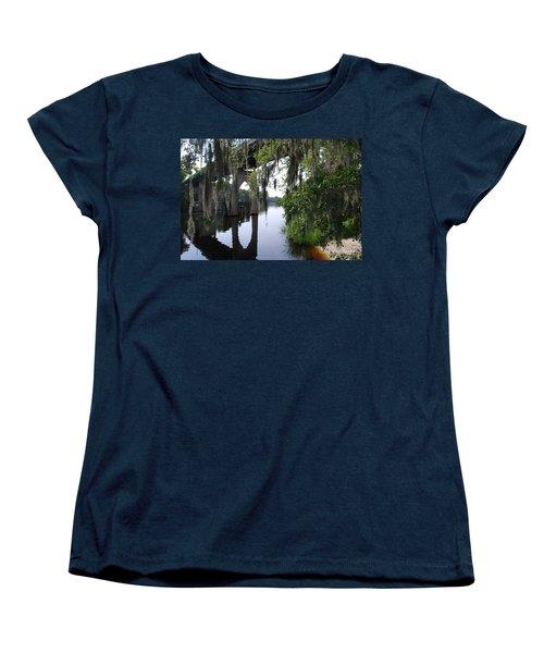 Serene River Women's T-Shirt (Standard Cut) by Gordon Mooneyhan