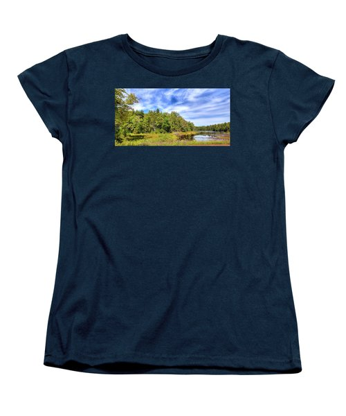 Women's T-Shirt (Standard Cut) featuring the photograph Serenity On Bald Mountain Pond by David Patterson