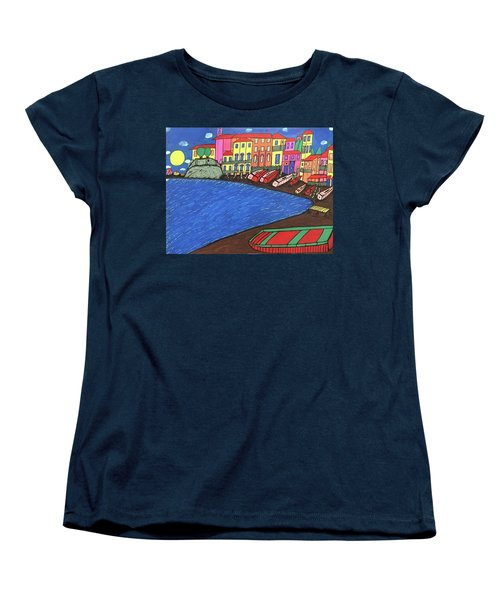 Women's T-Shirt (Standard Cut) featuring the painting Sestri Levante Italy by Jonathon Hansen