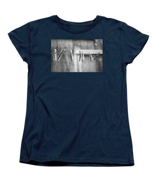Seven Clothes Pins Women's T-Shirt (Standard Cut) by Marius Sipa