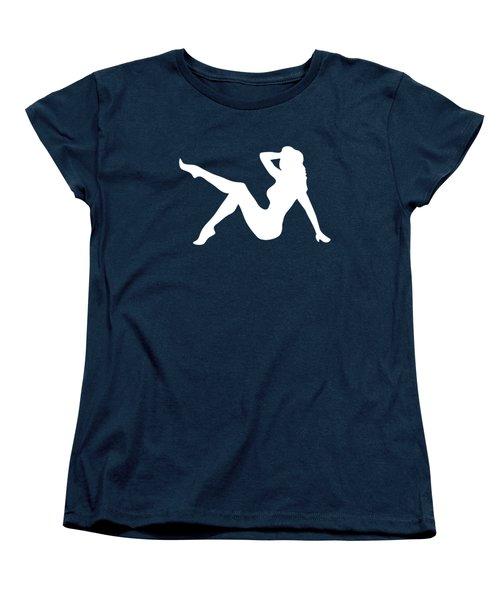 Sexy Trucker Girl White Tee Women's T-Shirt (Standard Cut) by Edward Fielding