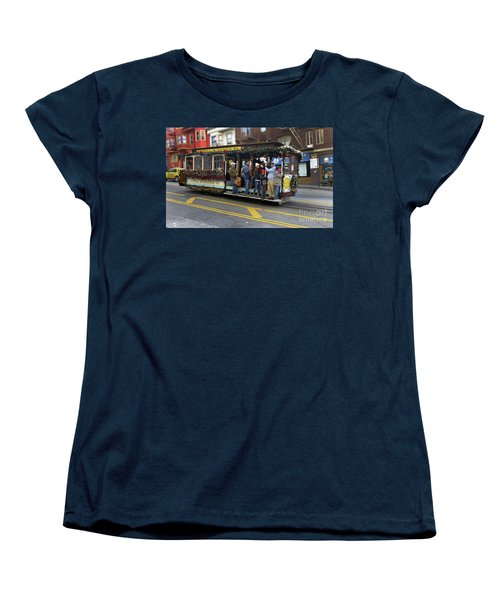 Women's T-Shirt (Standard Cut) featuring the photograph Sf Cable Car Powell And Mason Sts by Steven Spak
