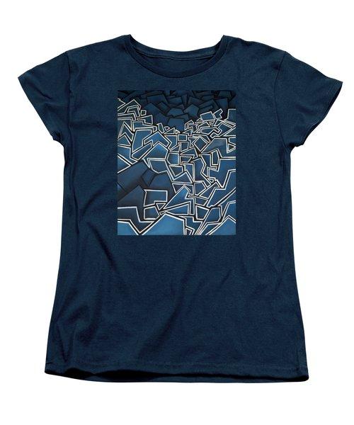 Shadderd Space Women's T-Shirt (Standard Cut) by Thomas Valentine