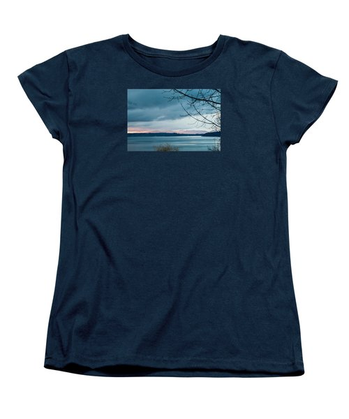Shades Of Blue As Night Falls Women's T-Shirt (Standard Cut) by E Faithe Lester