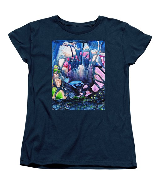 Women's T-Shirt (Standard Cut) featuring the painting Shades Of Tiffany by Joan Hartenstein
