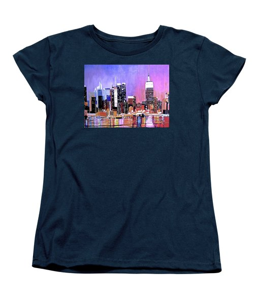 Shades Of Twilight Women's T-Shirt (Standard Cut) by Donna Blossom