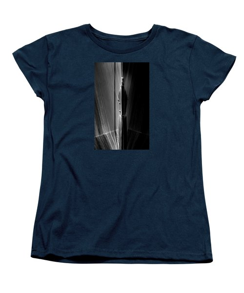 Shadow And Lines Women's T-Shirt (Standard Cut) by Newel Hunter