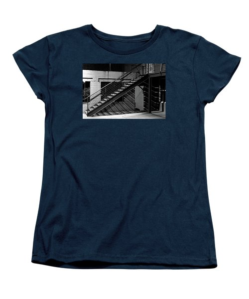 Shadow Of Stairs In Mono Women's T-Shirt (Standard Cut) by Christopher McKenzie