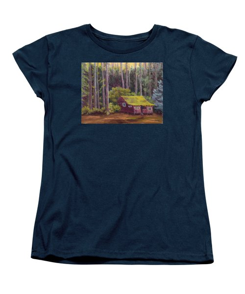 Women's T-Shirt (Standard Cut) featuring the painting Shady Grove by Nancy Jolley