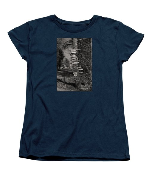 Women's T-Shirt (Standard Cut) featuring the photograph Shaker Jerry Road-moultonborough N H by Mim White