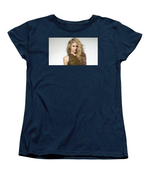 Shakira Women's T-Shirt (Standard Cut) by Iguanna Espinosa