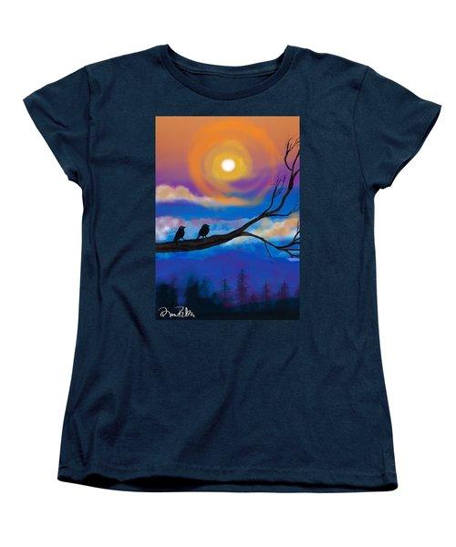 Sharing The Sunset-2 Women's T-Shirt (Standard Cut) by Diana Riukas