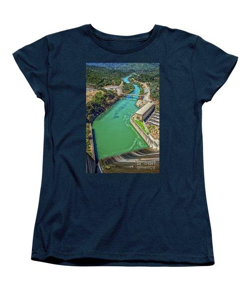 Shasta Lake Dam Women's T-Shirt (Standard Cut) by Billie-Jo Miller
