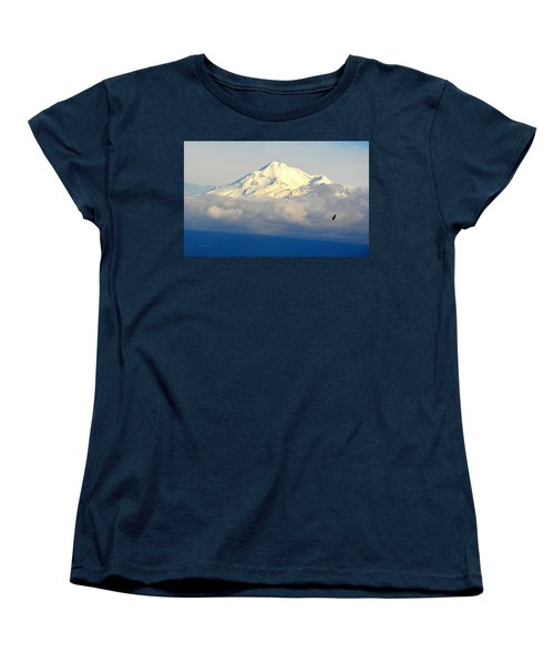 Shasta Near Sunset Women's T-Shirt (Standard Cut) by AJ Schibig