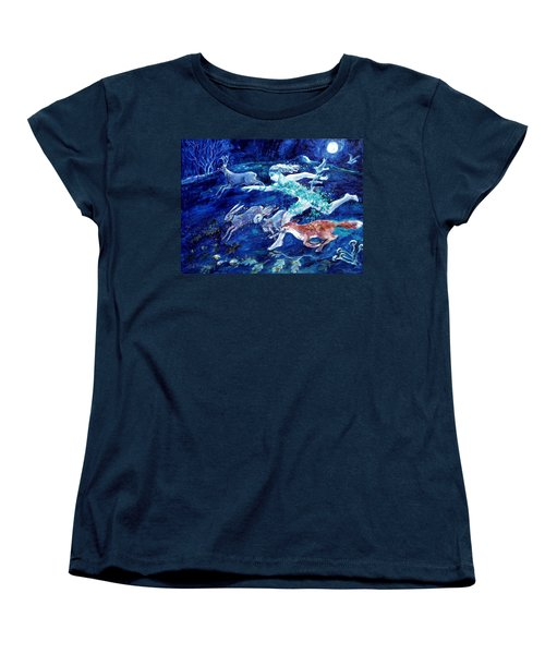 She Ran With The Hunted  Women's T-Shirt (Standard Cut) by Trudi Doyle