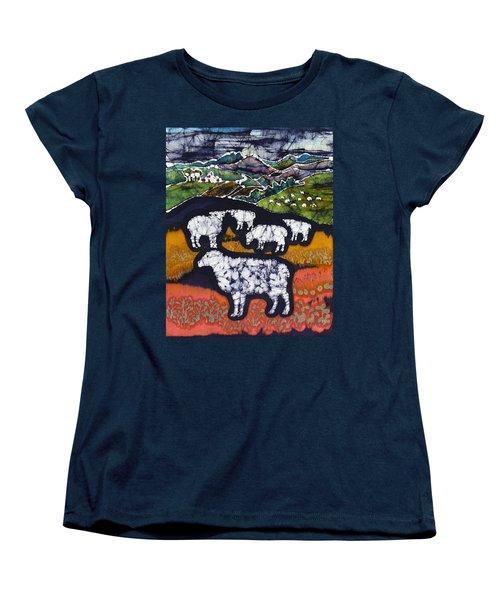 Sheep At Midnight Women's T-Shirt (Standard Cut)