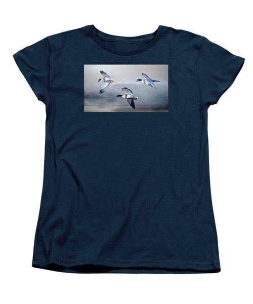 Women's T-Shirt (Standard Cut) featuring the photograph Shelduck Morning. by Brian Tarr