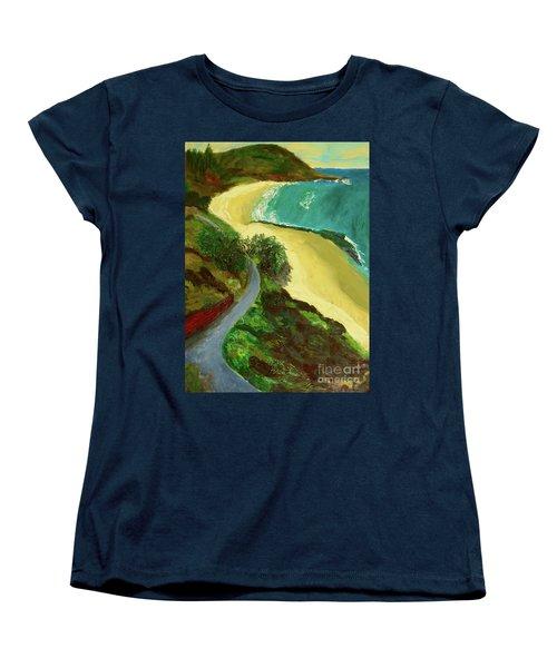 Shelly Beach Women's T-Shirt (Standard Cut) by Paul McKey