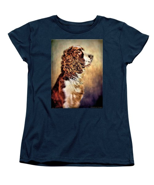 Women's T-Shirt (Standard Cut) featuring the photograph Shiloh, English Springer Spaniel by Wallaroo Images
