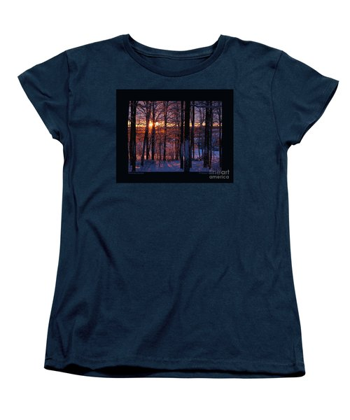 Women's T-Shirt (Standard Cut) featuring the photograph Shimmery Sunrise by Patricia Overmoyer
