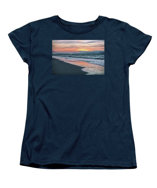 Women's T-Shirt (Standard Cut) featuring the photograph Shine On Me Beach Sunrise  by John McGraw