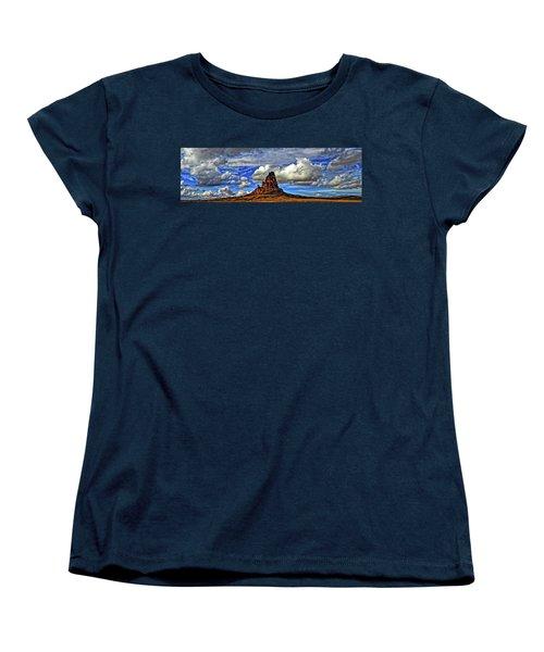 Women's T-Shirt (Standard Cut) featuring the photograph Shiprock Panorama by Scott Mahon