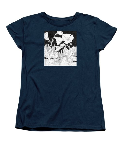 Women's T-Shirt (Standard Cut) featuring the painting Shooting The Breeze by Lou Belcher