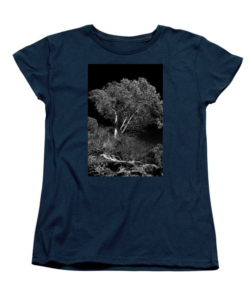 Women's T-Shirt (Standard Cut) featuring the photograph Shoreline Tree by Roger Mullenhour