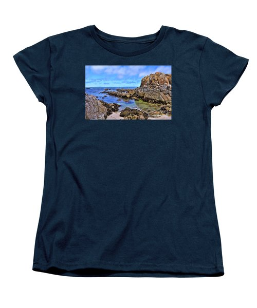 Shores Of Pacific Grove  Women's T-Shirt (Standard Cut) by Gina Savage