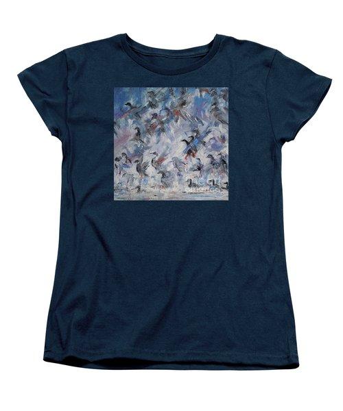 Shots Fired Women's T-Shirt (Standard Cut) by Ellen Anthony
