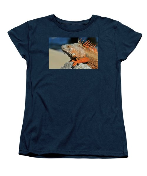 Women's T-Shirt (Standard Cut) featuring the photograph Showing My Spikes by Pamela Blizzard