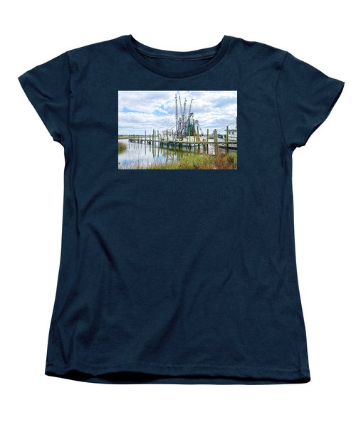 Shrimp Boats Of St. Helena Island Women's T-Shirt (Standard Cut) by Scott Hansen