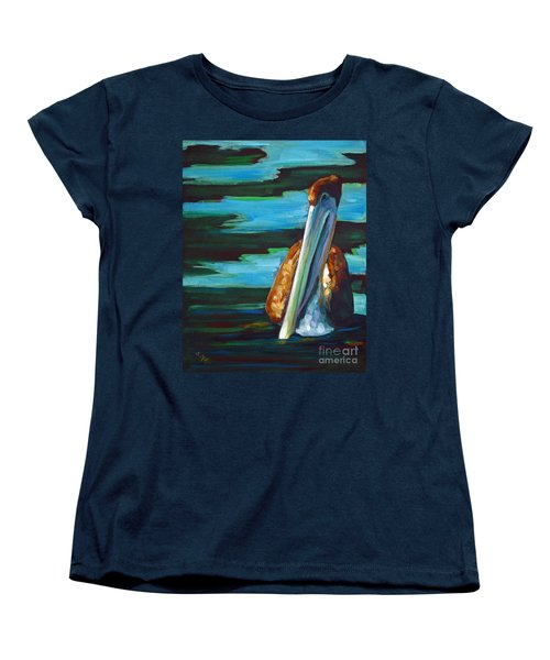 Women's T-Shirt (Standard Cut) featuring the painting Shy Brownie by Suzanne McKee