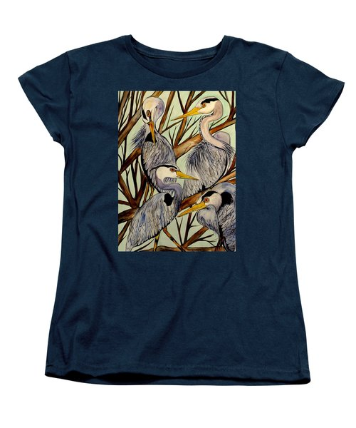 Sibling Rivalry With Egos On The Side Women's T-Shirt (Standard Cut) by Lisa Aerts