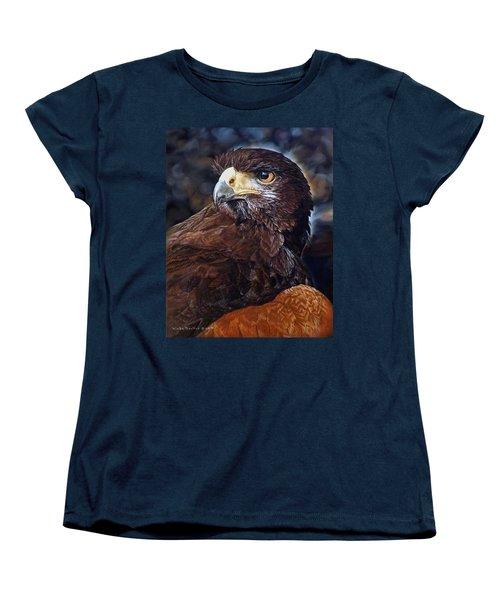 Sig The Harris Hawk Women's T-Shirt (Standard Cut) by Linda Becker