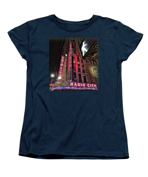 Women's T-Shirt (Standard Cut) featuring the photograph Sights In New York City - Radio City by Walt Foegelle