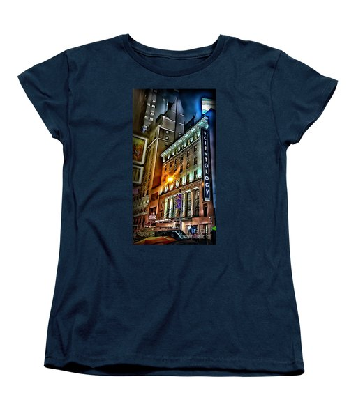 Women's T-Shirt (Standard Cut) featuring the photograph Sights In New York City - Scientology by Walt Foegelle