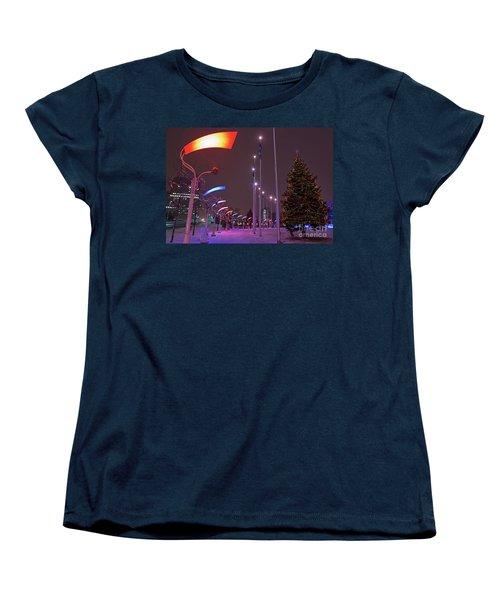 Women's T-Shirt (Standard Cut) featuring the photograph Silent Night.. by Nina Stavlund