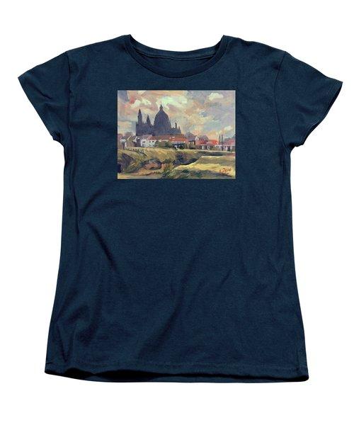 Silhouet Saint Lambertus Church Maastricht Women's T-Shirt (Standard Fit)
