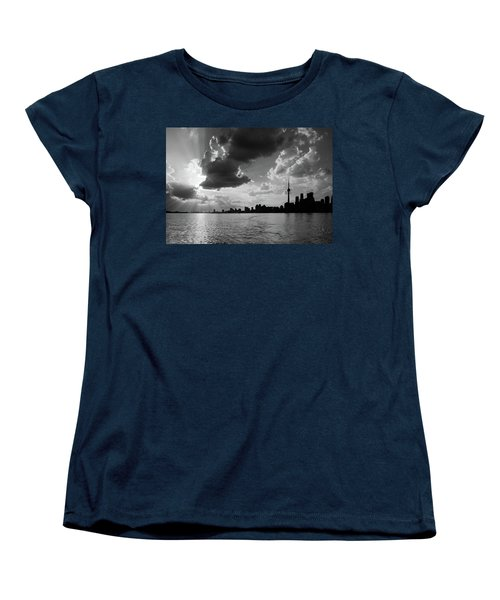 Silhouette Cn Tower Women's T-Shirt (Standard Cut) by Nick Mares