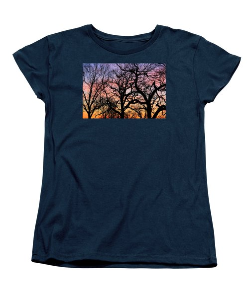 Women's T-Shirt (Standard Cut) featuring the photograph Silhouettes At Sunset by Chris Berry