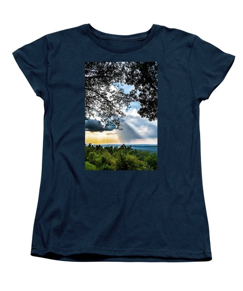 Women's T-Shirt (Standard Cut) featuring the photograph Silhouettes At The Overlook by Shelby Young