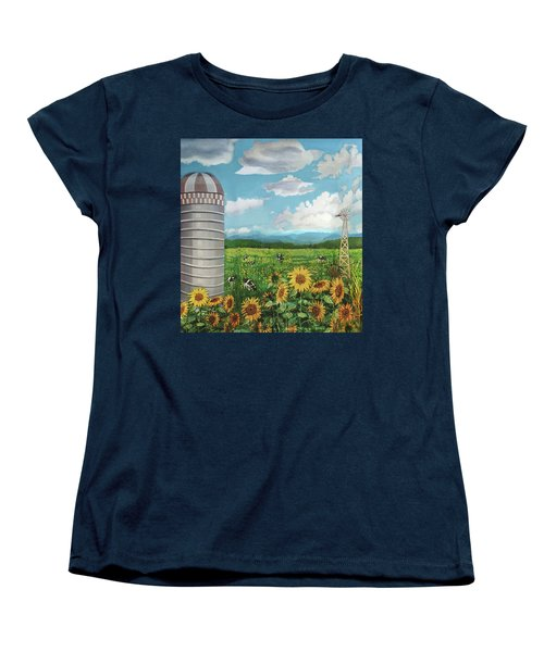 Silo Farm Women's T-Shirt (Standard Cut) by Bonnie Siracusa