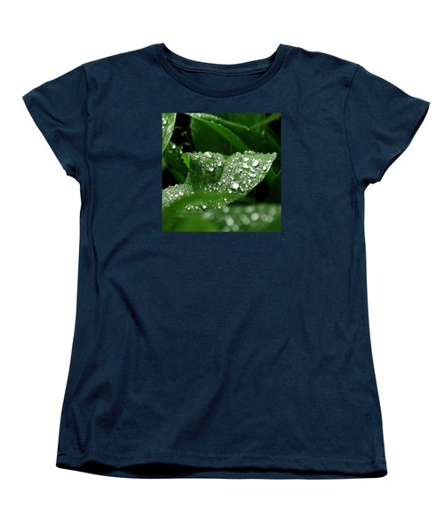 Women's T-Shirt (Standard Cut) featuring the photograph Silver Drops Of Spring by Al Fritz