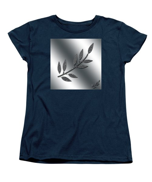 Silver Leaves Abstract Women's T-Shirt (Standard Cut) by Aimee L Maher Photography and Art Visit ALMGallerydotcom