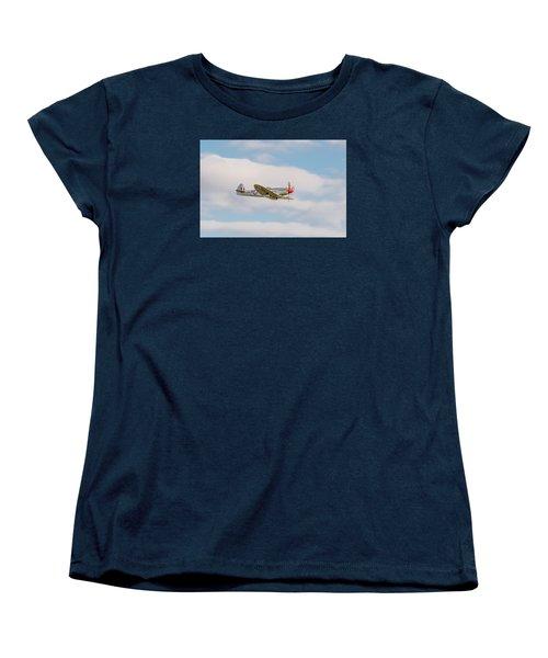 Silver Spitfire Women's T-Shirt (Standard Cut) by Gary Eason