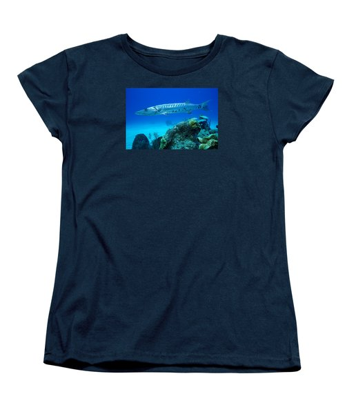 Women's T-Shirt (Standard Cut) featuring the photograph Silver Stalker by Aaron Whittemore